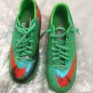 Nike Mercurial Victory IV IC Lime/Silver/Blue / 7
